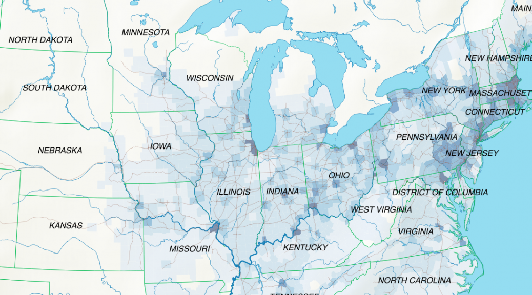 Background GIS data layers for the emigration map